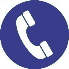 telefoon blauw