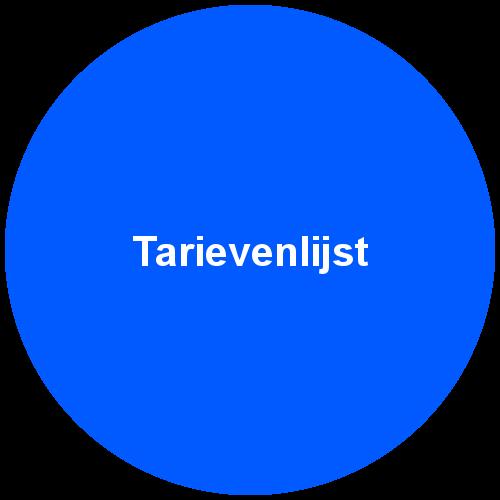 tarievenlijst